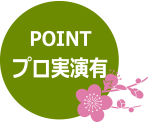 POINT プロ実演有
